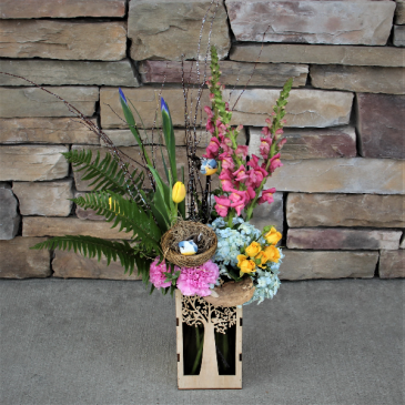 Twitterpated Flower  Arrangement with Accents
