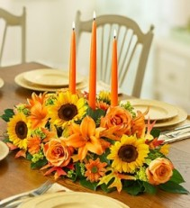 Three Candle Thanksgiving Centerpiece