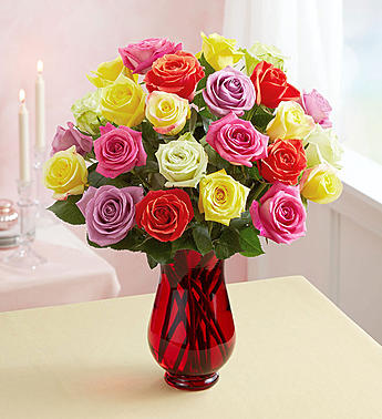 24 ASSORTED ROSES
