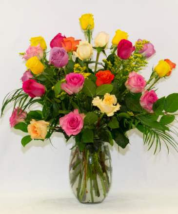 Two Dozen Assorted Roses - SPECIAL PRICE