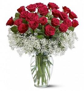 Two Dozen Deluxe Red Roses In Dearborn Mi Lamas Florist