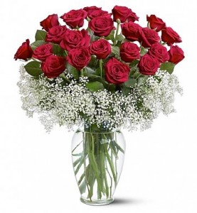 Two Dozen Deluxe Red Roses