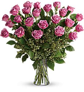 Two Dozen Lavender Rose Arrangement