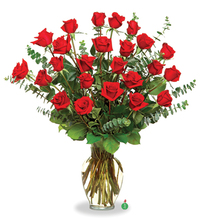 Two Dozen Long - Stemmed Red Roses  in Liberty, NC | GARRETT'S FLOWER SHOP