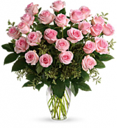 Two Dozen Pink Roses Rose Arrangement
