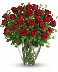Two Dozen Premium Red Rose Arrangement