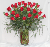 Two Dozen Premium Red Roses Fresh Floral Design