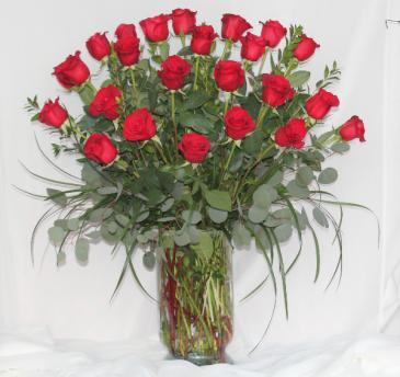 Two Dozen Premium Red Roses Fresh Floral Design