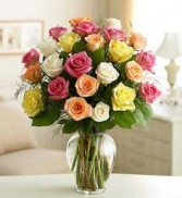 Two Dozen Pretty Pastel Roses Arrangement