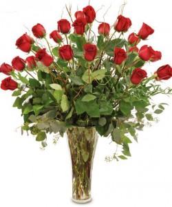 Two Dozen Red Roses Arranged Roses Arranged in Brattleboro, VT | WINDHAM FLOWERS