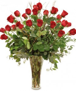 Two Dozen Red Roses Arranged Roses Arranged
