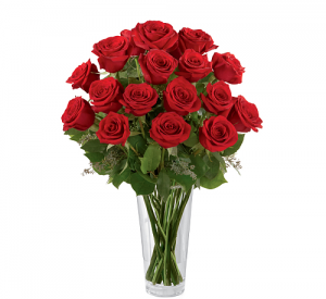 Two Dozen Red Roses Flower Arrangement in Richmond, VT | CRIMSON POPPY FLOWER SHOP