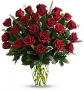 Two Dozen Red Roses Rose Arrangement
