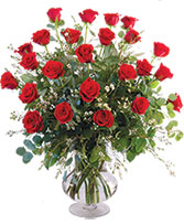 Two Dozen Red Roses Vase Arrangement  in Deckerville, Michigan | Bloomin' Crazy Flowers & More