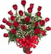 24 Traditional  Long Stem Roses
