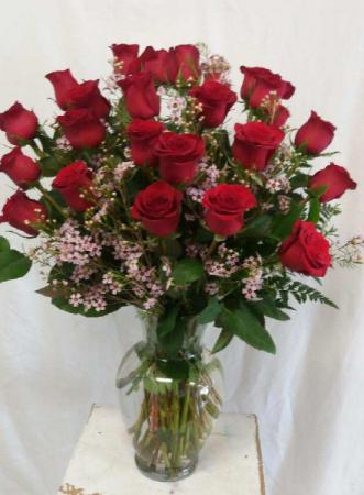 Two Dozen Roses Arrangement