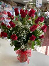 You're In My Heart!! Two Dozens Ecuadorian  Roses Long Stems