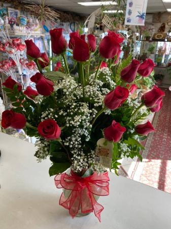 You're In My Heart!! Two Dozens Long Stems   Roses
