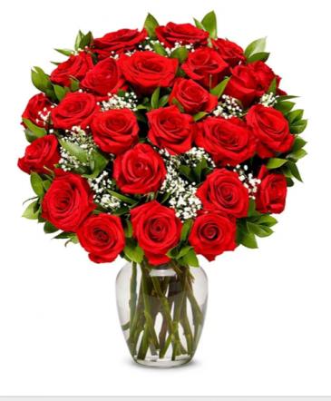 Two dozen short stem roses Roses