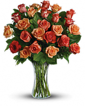 Two Dozen Sunrise Roses Rose Arrangement