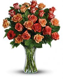 Two Dozen Sunrise Roses Rose Arrangement