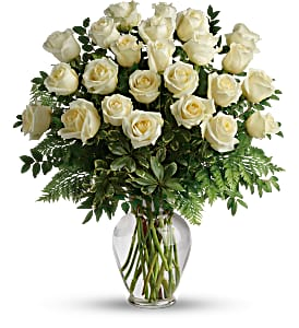 Two Dozen White Rose Arrangement
