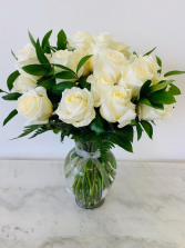 Two Dozen White Roses Roses