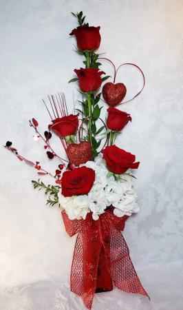 Two Hearts On Fire Acacia Exclusive Fo Valentines In Hesperia Ca Acacia S Country Florist