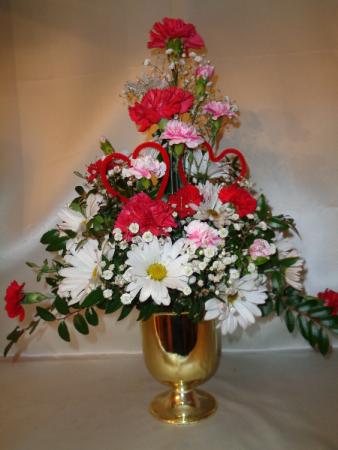 Two Hearts Together Vase Arrangement