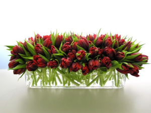 Two Lips!  Holiday Centrepiece  in Oakville, ON | ANN'S FLOWER BOUTIQUE-Wedding & Event Florist