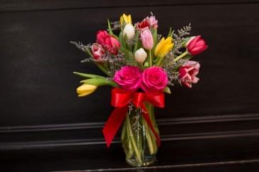 Two Lips, One Kiss Vase Arrangement