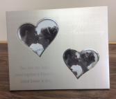 Two lives,two hearts Frame 25th Anniversary Personalized Giftware