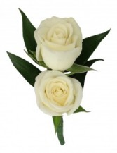 Two Miniature Roses  B21-16 Boutonniere
