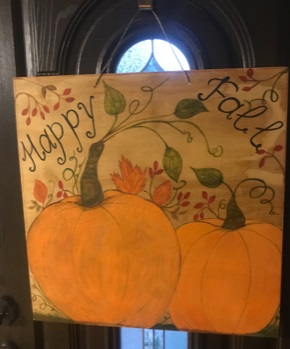 Two Pumpkins Door Hanger