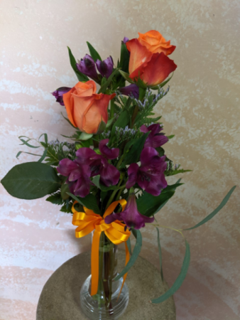 Two roses and alstromeria Bouquet