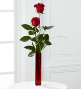 Two Roses in a Bud Vase