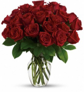 Two Short Dozen Red Roses Arrangement