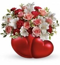 Two Sweet Bouquet Valentine's Gift Arrangement