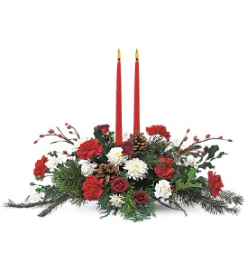 Two Taper - 853 Christmas arrangement