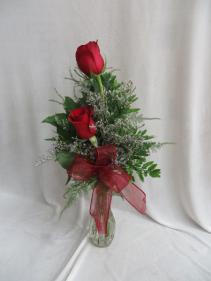 Two's Company Rose Vase Fresh Rose Budvase