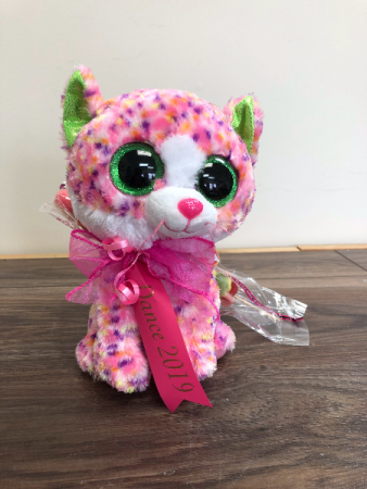 Ty stuffies with ribbon Tickle stick candy attached