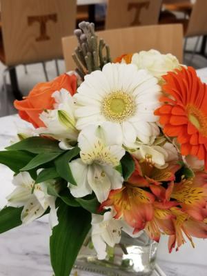 U.T. Grad bouquet Go Vols!  fresh arrangement in Knoxville, TN | ALWAYS IN BLOOM LLC
