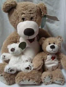 "These adorable bears can be added...just select   the price. Small (7"") is the white SELECT 7.95, tan medium(13"") SELECT 12.95 and large (25"")SELECT 29.95"