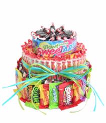 ultimate candy birthday cake gift basket