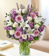 Ultimate Elegance™ - Lavender and White Arrangement