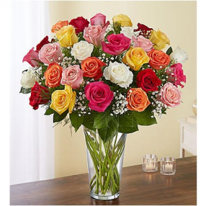 Ultimate Elegance™ Long Stem Assorted Roses  in Brooklyn, NY | FLORAL FANTASY