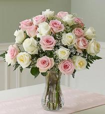 Ultimate Elegance™ Long Stem Pink & White Roses