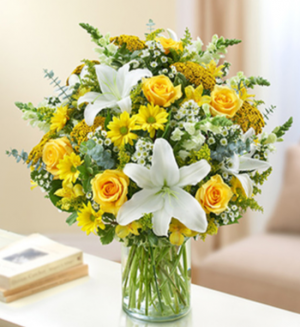 Ultimate Elegance™ - Yellow and White Arrangement in Croton On Hudson, NY | Cooke's Little Shoppe Of Flowers