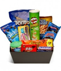 Ultimate Junk Food Basket Gift Basket