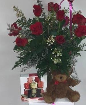 Ultimate valentine bundle  Roses  in Hillsdale, MI | THE BLOSSOM SHOP